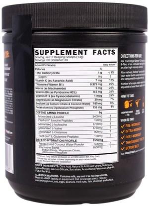 المكملات الغذائية، والأحماض الأمينية، بكا (متفرعة سلسلة الأحماض الأمينية) Grenade, Defend BCAA, Strawberry Mango, 13.76 oz (390 g)