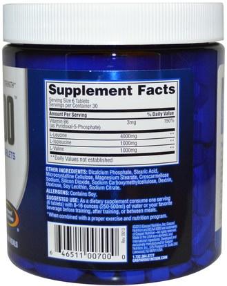 المكملات الغذائية، والأحماض الأمينية، بكا (متفرعة سلسلة الأحماض الأمينية)، والرياضة، والرياضة Gaspari Nutrition, BCAA 6000, 180 Tablets