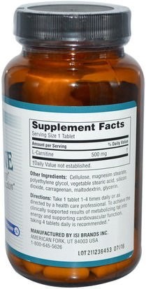 المكملات الغذائية، والأحماض الأمينية، ل كارنيتين Twinlab, Mega L-Carnitine, 90 Tablets