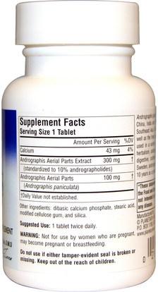 المكملات الغذائية، المضادات الحيوية، أندروغرافيس Planetary Herbals, Full Spectrum Andrographis, 400 mg, 60 Tablets