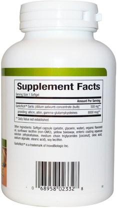 المكملات الغذائية، المضادات الحيوية، الثوم Natural Factors, GarlicRich, Super Stength, Garlic Concentrate, 500 mg, 90 Enteric Coated Softgels