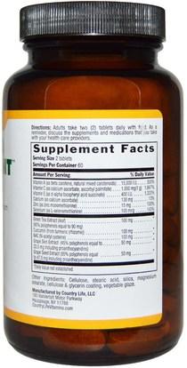 والمكملات الغذائية، ومضادات الأكسدة Country Life, Super 10 Antioxidant, 120 Tablets