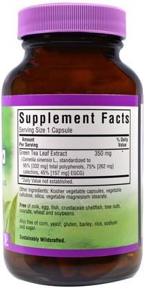 المكملات الغذائية، مضادات الأكسدة، الشاي الأخضر، الأعشاب، إغغ Bluebonnet Nutrition, EGCG Green Tea Leaf Extract, 120 Veggie Caps