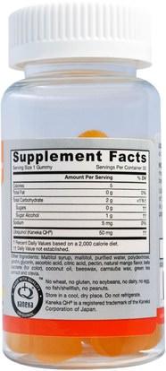 المكملات الغذائية، مضادات الأكسدة، أوبيكينول خ، أوبيكينول coq10 050 ملغ، غوميز Jarrow Formulas, Ubiquinol QH-Gummies, Sugar Free, Mango Flavor, 50 mg, 30 Gummies