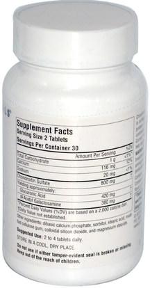 المكملات الغذائية، منتجات الأبقار، شوندروتن Source Naturals, Chondroitin Sulfate, 400 mg, 60 Tablets