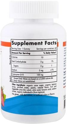 المكملات الغذائية، أنزيم q10، coq10 Nordic Naturals, CoQ10 Gummies, Strawberry, 100 mg, 60 Gummies