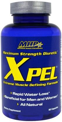 والمكملات الغذائية، مدرات البول حبوب الماء، وفقدان الوزن، والنظام الغذائي Maximum Human Performance, LLC, Xpel, Maximum Strength Diuretic, 80 Capsules