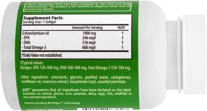 المكملات الغذائية، إيفا أوميجا 3 6 9 (إيبا دا)، اضطراب نقص الانتباه، إضافة، أدهد، الدماغ Advanced Orthomolecular Research AOR, Omega 3, 60 Softgels