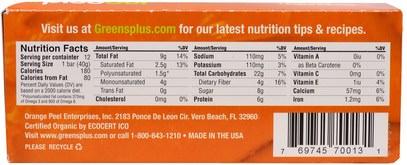 والمكملات الغذائية، إيفا أوميجا 3 6 9 (إيبا دا)، بذور شيا، والغذاء والوجبات الخفيفة والوجبات الخفيفة الصحية Greens Plus, PlusBar, Chocolate Peanut Butter Chia Crisp, 12 Bars, 1.4 oz (40 g) Each