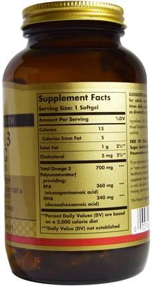 المكملات الغذائية، إيفا أوميجا 3 6 9 (إيبا دا)، دا، إيبا Solgar, Omega-3, 700 mg, EPA & DHA, 120 Softgels