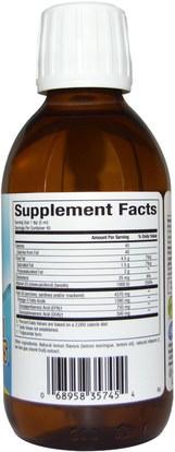 المكملات الغذائية، إيفا أوميجا 3 6 9 (إيبا دا)، زيت السمك السائل Natural Factors, SeaRich Omega-3, 750 mg EPA/500 mg DHA, with Vitamin D3, Lemon Meringue, 6.76 fl oz (200 ml)