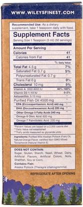 المكملات الغذائية، إيفا أوميجا 3 6 9 (إيبا دا)، زيت السمك السائل Wileys Finest, Wild Alaskan Fish Oil, Orange Burst, 660 mg, 8.4 fl oz. (250 ml)