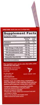 المكملات الغذائية، إيفا أوميجا 3 6 9 (إيبا دا)، زيت الكريل Schiff, MegaRed, Omega-3 Krill Oil, 350 mg, 90 Softgels