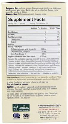 المكملات الغذائية، إيفا أوميجا 3 6 9 (إيبا دا)، أوميغا 369 قبعات / علامات التبويب Get Real Nutrition, Real Omega Immune, 90 Organic Capsules