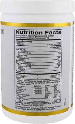 المكملات الغذائية، مقتطفات الفاكهة، سوبر الفواكه، مسحوق أكاي California Gold Nutrition, CGN, Organic Acai Powder, 8 oz (227 g)