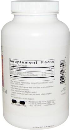 والمكملات الغذائية، والمعادن، والكالسيوم والمغنيسيوم Thorne Research, Calcium-Magnesium Citramate, 240 Vegetarian Capsules