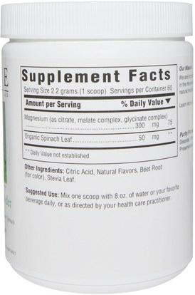 المكملات الغذائية، المعادن، المغنيسيوم Innate Response Formulas, Magnesium 300 Powder, 4.7 oz (132 g)