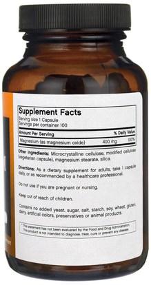 المكملات الغذائية، المعادن، أكسيد المغنيسيوم FutureBiotics, Magnesium, 400 mg, 100 Veggie Caps