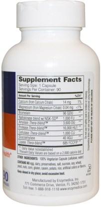المكملات الغذائية، ناتوكيناس، الصحة Enzymedica, Natto-K, Cardiovascular, 90 Capsules