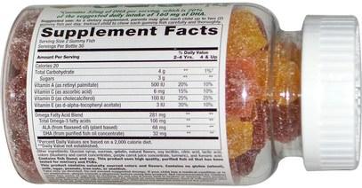 منتجات حساسة للحرارة، والمكملات الغذائية، أوميغا 369 غوميز Nutrition Now, Rhino Gummy Omega-3, with DHA, 60 Gummy Fish