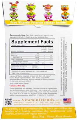 المكملات الغذائية، البروبيوتيك، الأطفال البروبيوتيك، استقرت البروبيوتيك Vitamin Friends, Probayo, Sugar Free, Acidophilus & Prebiotic, 20 Vanilla Bears