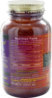المكملات الغذائية، البروبيوتيك، استقرت البروبيوتيك HealthForce Nutritionals, Friendly Force, The Ultimate Probiotic Powder, 80 g