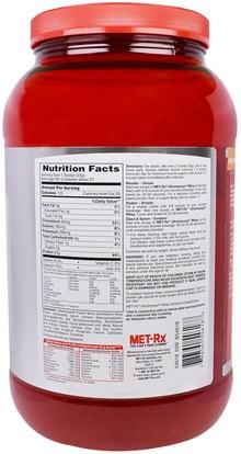 والمكملات الغذائية، والبروتين MET-Rx, 100% Ultramyosyn Whey, Chocolate, 32 oz (907 g)