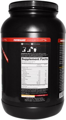 والمكملات الغذائية، والبروتين Olympian Labs Inc., Performance Sport Nutrition, Beef Protein Isolate, Chocolate, 2 lbs (907 g)