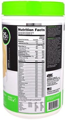 المكملات الغذائية، يهز البروتين، والرياضة Optimum Nutrition, Opti-Fit Lean Protein Shake, Vanilla, 1.8 lb (816 g)