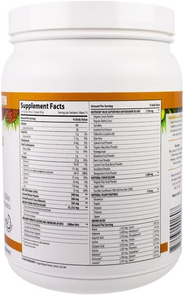 والمكملات الغذائية، والبروتين، سوبرفوودس Macrolife Naturals, MacroMeal, Vegan, Chocolate Protein + Superfoods, 23.8 oz (675 g)