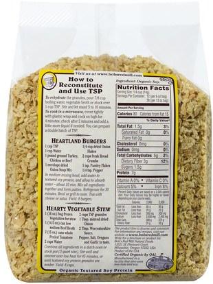 والمكملات الغذائية، ومنتجات الصويا، بروتين الصويا Bobs Red Mill, Organic, TSP, Textured Soy Protein, 13 oz (368 g)