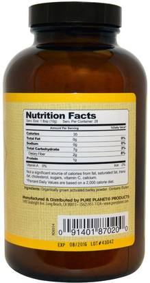 المكملات الغذائية، سوبرفوودس، العشب الشعير Pure Planet, Activated Barley, 280 g