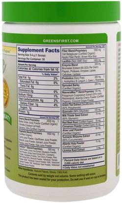 المكملات الغذائية، سوبرفوودس، الخضر Greens First, Superfood Antioxidant Shake, Original, 9.95 oz (282 g)