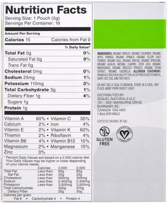 المكملات الغذائية، سوبرفوودس، الخضر Vega, Vega Drink Mix, Greens, Matcha Honeydew Flavored, 16 Pouches, 0.2 oz (5 g) Each