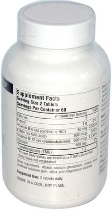 المكملات الغذائية، تمغ (البيتين اللامائية) Source Naturals, Homocysteine Defense, 120 Tablets