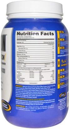 المكملات الغذائية، بروتين مصل اللبن، والعضلات Gaspari Nutrition, MyoFusion, Advanced Protein, Peanut Butter Cookie, 2 lbs (907 g)