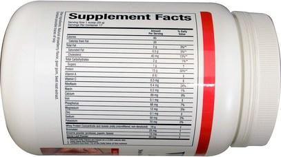 المكملات الغذائية، بروتين مصل اللبن Natural Factors, Whey Factors, 100% Natural Whey Protein, Natural Strawberry Flavor, 12 oz (340 g)