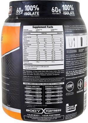 المكملات الغذائية، بروتين مصل اللبن، والرياضة Body Fortress, Super Advanced 100% Protein Isolate, Chocolate, 1.5 lbs (680 g)