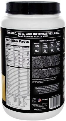 المكملات الغذائية، بروتين مصل اللبن، تجريب Cytosport, Inc, Genuine Muscle Milk, Lean Muscle Protein, Cake Batter, 39.5 oz (1120 g)