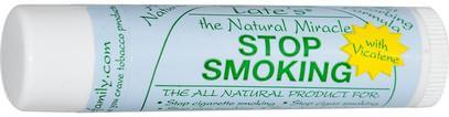 Tates, The Natural Miracle Stop Smoking Lip Balm with Vicatene, 4.25 g ,حمام، الجمال، العناية الشفاه، بلسم الشفاه، الصحة، مركز التدخين