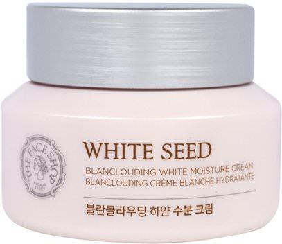 The Face Shop, White Seed, Blanclouding White Moisture Cream, 1.69 fl. oz (50 ml) ,حمام، الجمال، غسول الجسم