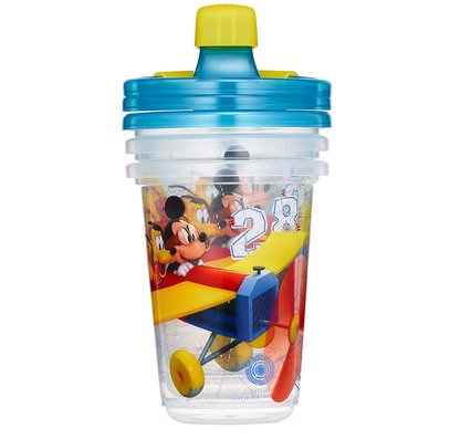 The First Years, Disney Mickey Mouse, Take & Toss Sippy Cups, 9+ Months, 3 Pack - 10 oz (296 ml) ,صحة الطفل، تغذية الطفل، سيبي الكؤوس