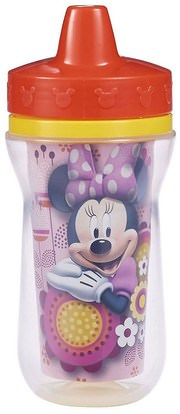 The First Years, Minnie Mouse Insulated Sippy Cup, 9 + Months, 9 oz (266 ml) ,صحة الطفل، تغذية الطفل، سيبي الكؤوس