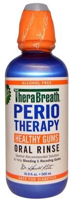 TheraBreath, PerioTherapy, Healthy Gums Oral Rinse, Alcohol Free, 16.9 fl oz (500 ml) ,حمام، الجمال، شفهي، الأسنان، تهتم، غسول الفم