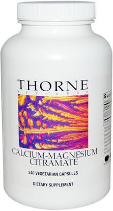 Thorne Research, Calcium-Magnesium Citramate, 240 Vegetarian Capsules ,والمكملات الغذائية، والمعادن، والكالسيوم والمغنيسيوم