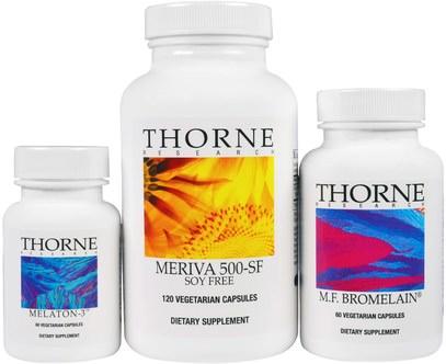 Thorne Research, Nutrigesic Kit, 3 Piece Kit ,المكملات الغذائية، مضادات الأكسدة، الكركمين، ميريفا فيتوسوم الكركمين