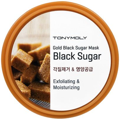 Tony Moly, Gold Black Sugar Mask, 100 ml ,حمام، الجمال، أقنعة الوجه، السكر، أقنعة الفاكهة