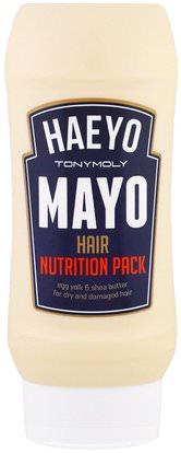 Tony Moly, Haeyo Mayo Hair Nutrition Pack, 250 ml ,حمام، الجمال، الشعر، فروة الرأس، الشامبو، مكيف