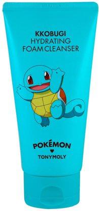 Tony Moly, Pokemon, Foam Cleanser, Hydrating, Kkobugi, 150 ml ,الجمال، العناية بالوجه