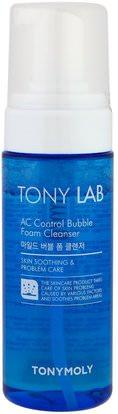 Tony Moly, Tony Lab, AC Control Bubble Foam Cleanser, 150 ml ,الجمال، العناية بالوجه